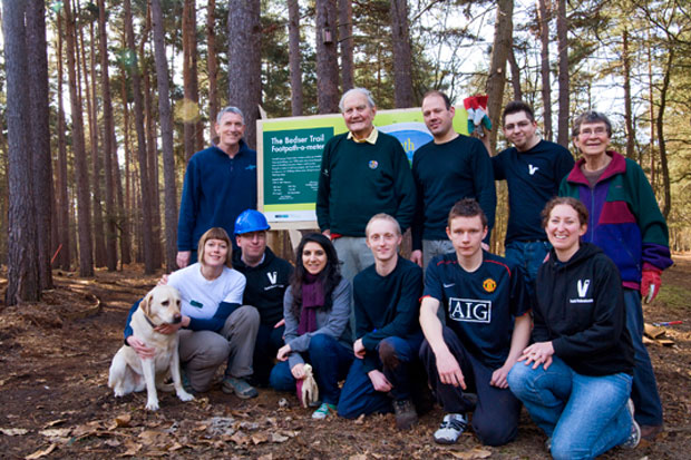 Sir Alec Bedser Visits New Trail Site
