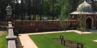 A restored corner of the Peace Garden on Horsell Common