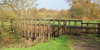 The new bridge across the Bourne at Heather Farm on Horsell Common