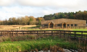 Heather Farm building on Horsell Common