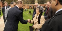 HRH meets Sophena Chisembele at Muslim Burial Ground opening