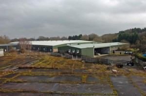 The former mushroom farm site prior to demolition in 2011.